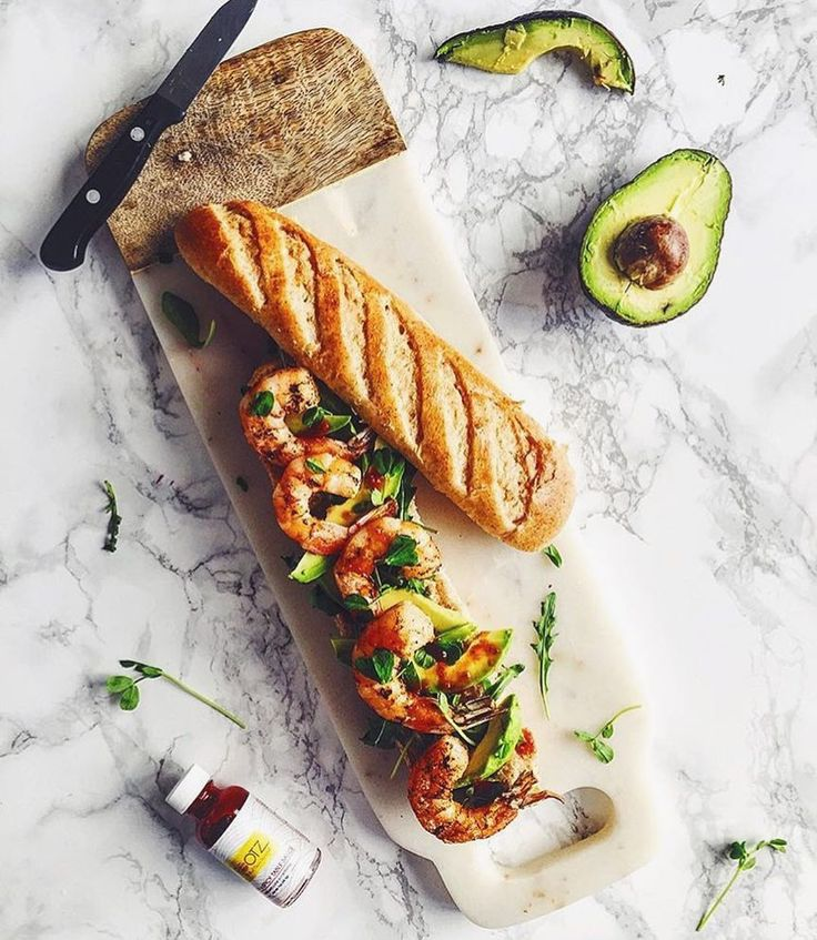 Winner winner baguette dinner from @northdixiekitchen  Thanks for the ROOTZ Sauce love  #regram  Oprah say? I LOVE BREAD!!! Especially when it surrounds spicy shrimp arugula avocado and my latest @hatchery obsession @rootzsauce sweet and spicy table sauce. by rootzsauce