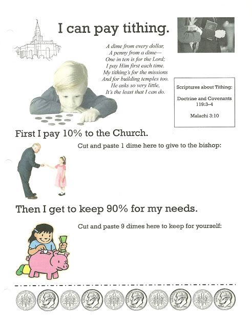 tithing coloring page - happy clean living primary 2 lesson 33 church tithing