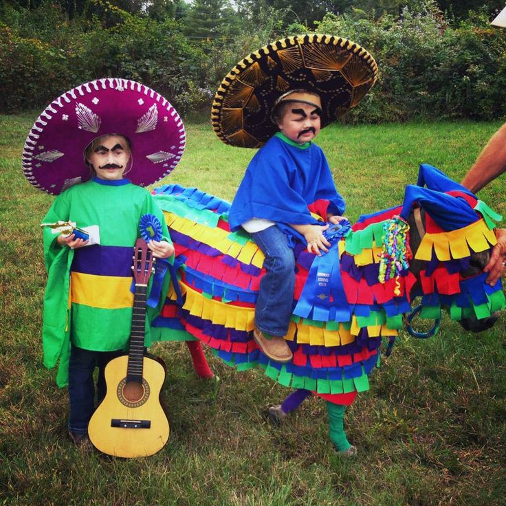 Little kid horse Halloween costume, Mexicans and pinata - Submitted by Chick's fan Desiree Shuford Gash