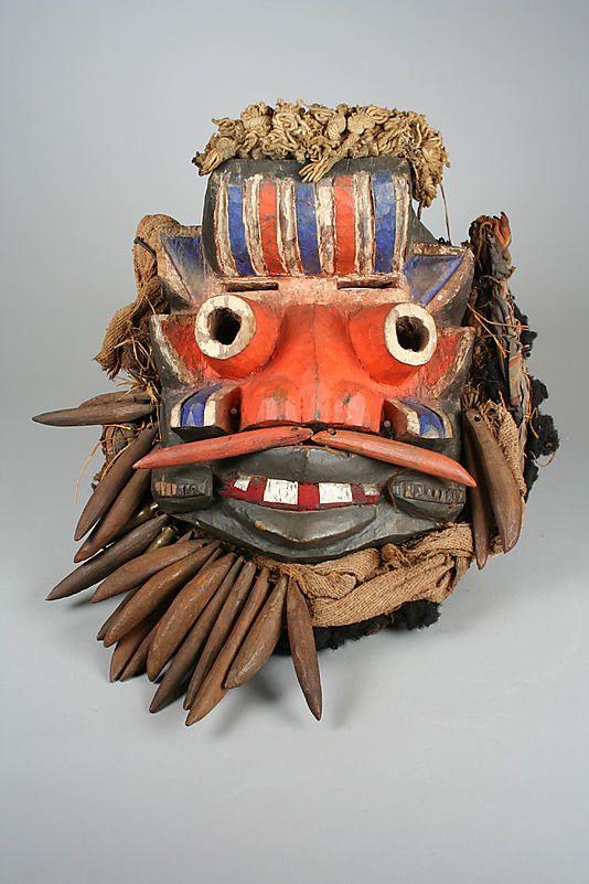 Mask [Guere peoples culture]. Côte d'Ivoire, 19th-mid-20th century.