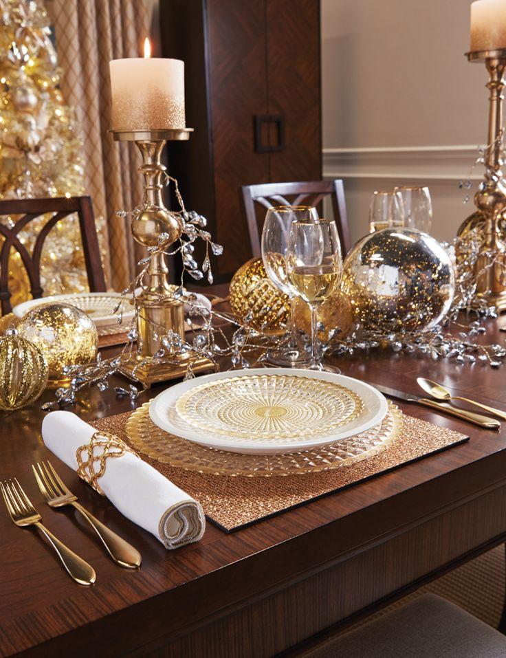Christmas Dining Room Decor | Sheer Elegance Place Setting