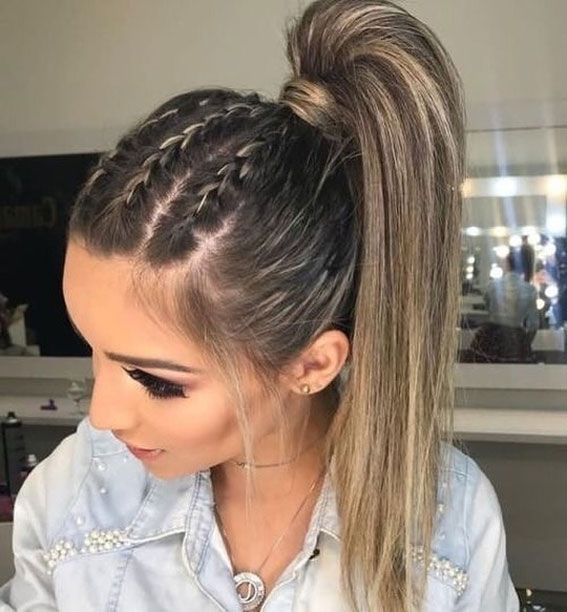 22 Cute Braid Hairstyles Cute Braided Ponytail Hairstyle Braids For Long Hair Hair Styles Cool Braid Hairstyles