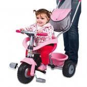 Smoby трехколесный велосипед smoby розовый с сумкой арт.444141  — 6960р.  производитель: smoby  особенности smoby: велосипед - каталка для детей в возрасте от 10 месяцев. для безопасности ребенка оснащен дугами и ремнями безопасности. основные характеристики:  удобная ручка для мамы.  вместительный багажник.  подставка для ног.  изготовлен из упроченного пластика с элементами из металла.  родительская ручка не управляет рулем.  размер: 95х50х89 см