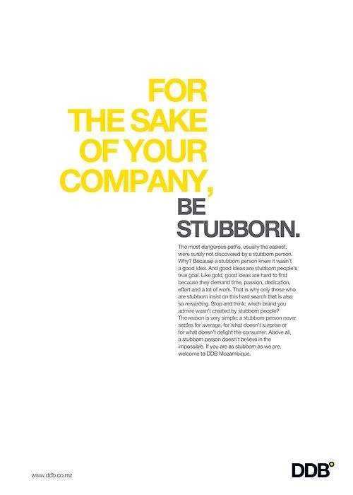 DDB - Be Stubborn