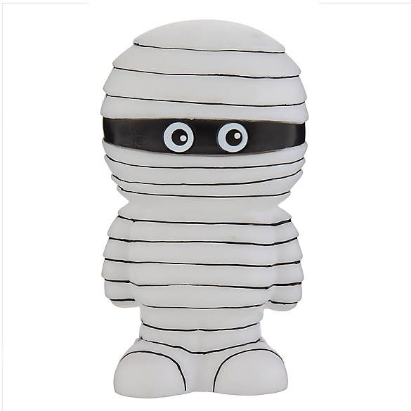 Thrills Chills Halloween Mummy Dog Toy Squeaker Dog
