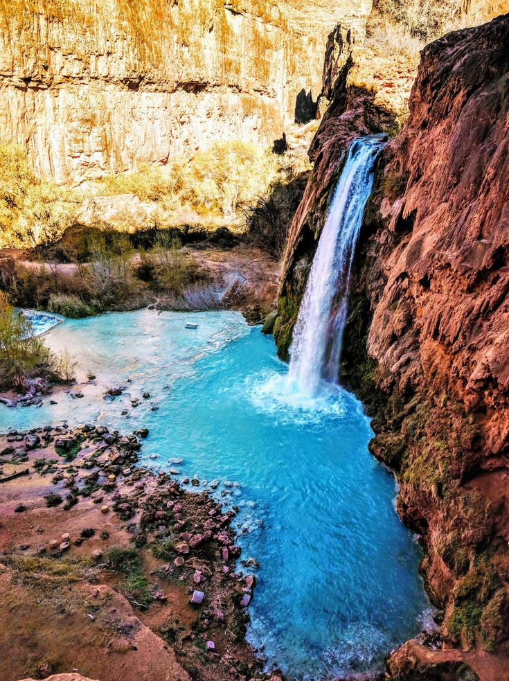 Finally made it this week after learning about it years ago on earthporn! Havasu Falls in the Havasupai Nation AZ. [2992x4000][OC]