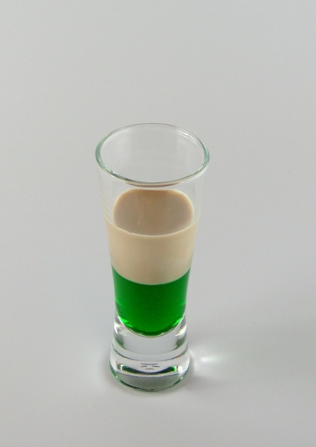 SPRINGBOK SHOT - This is a popular shooter in South Africa. The  name derives from the team jersey colour of the South African national rugby team, which is known as 'Springboks'.