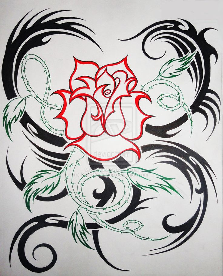 rose vine tattoo flash designs sort sorts tattoo tribal