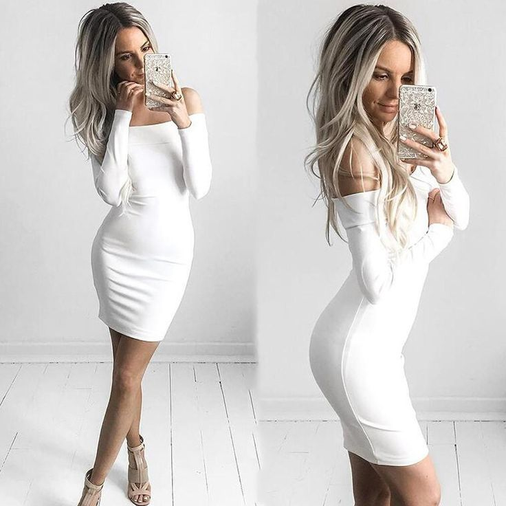 BEFORW Women Sexy Dress Fashion The Word Shoulder Summer Autumn Dress Vestidos Plus Size Women Clothing White Black Dresses  #instalike #styles #style #beauty #shopping #instastyle #instafashion #dress #cute #model