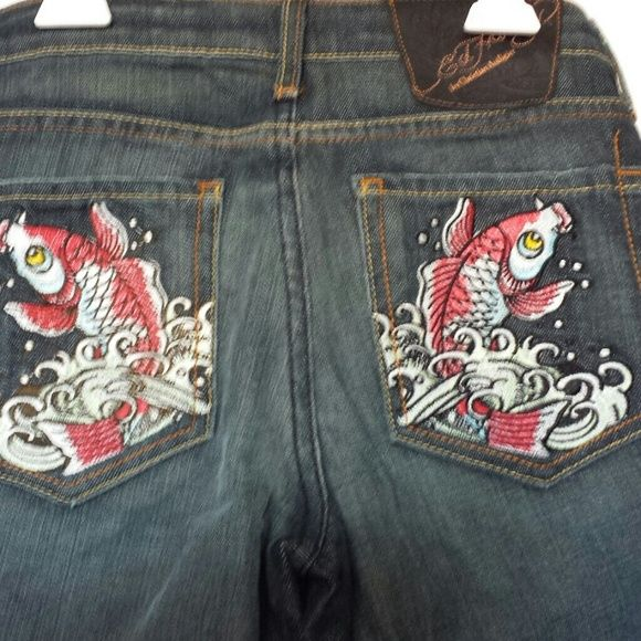 Ed Hardy Koi Fish Jeans Ed Hardy Koi Fish Jeans. New w/no tags Reduced-Was-$40 Now-$30! Ed Hardy Jeans
