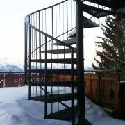 External black powder coated spiral supplied to a customer in Switzerland