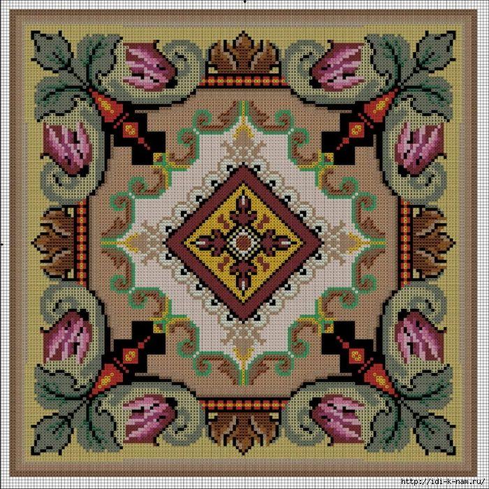схемы для вышивания декоративных подушечек — HandMade