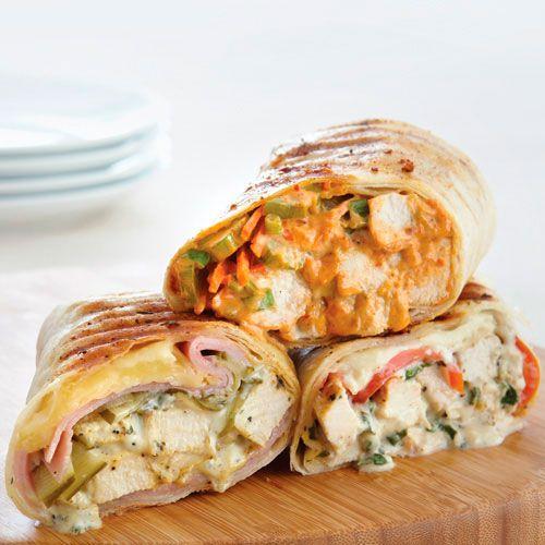 Grilled Chicken & Garden-Fresh Basil Wraps