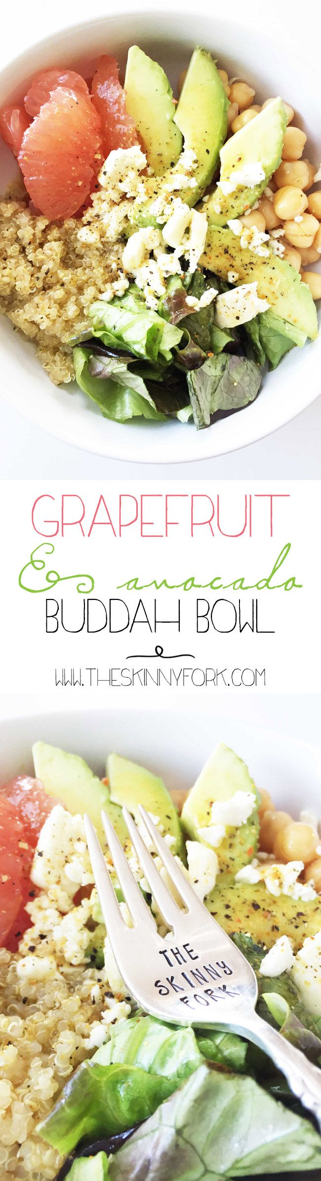 Eating the rainbow today with this Grapefruit & Avocado Buddha Bowl! A great…