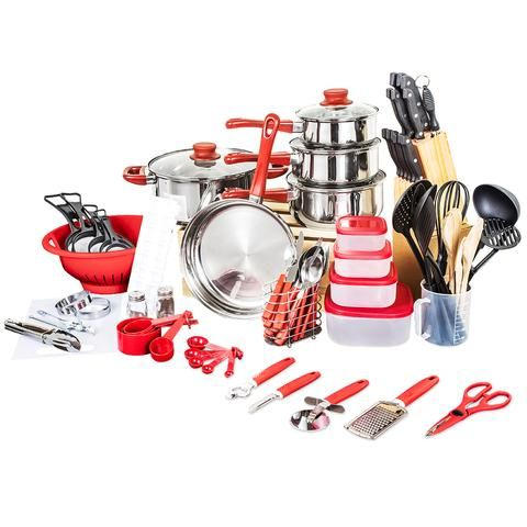 Quality Top Fashion Real Cookware Cooking Pots And Pans Set 80 Piece Starter Combo