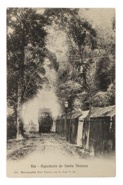 Raro Cartão tipográfico: Fotógrafo Marc Ferrez - Aqueducto de Santa Tereza, Rio de Janeiro.