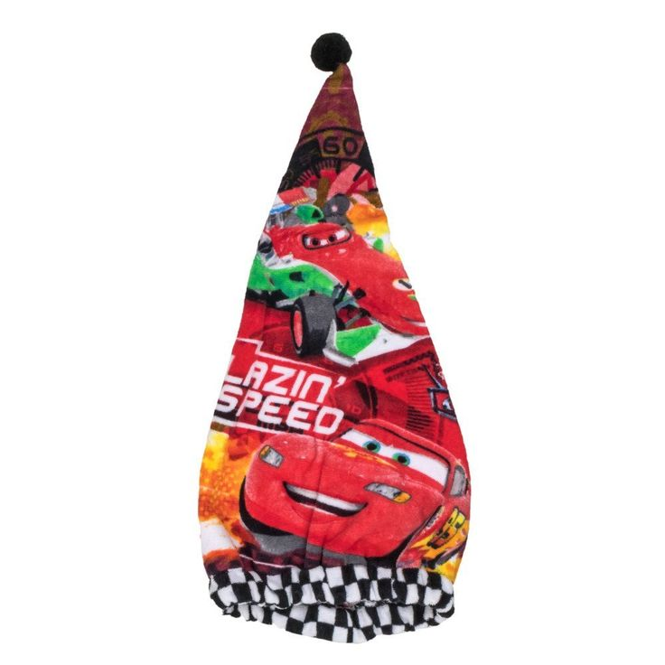 Japan Disney Pixar Official Cars 2 - Lightning McQueen Soft Red Cotton Dry Hair Cap Women's Beanie Style Elastic Rubber Band Shower Hat Bath Spa Quick Drying Absorbent Lady Waterproof Head Wrap Twist -- Check out this great product.
