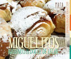 Receta para hacer miguelitos rellenos con dulce de leche en tu horno de pan