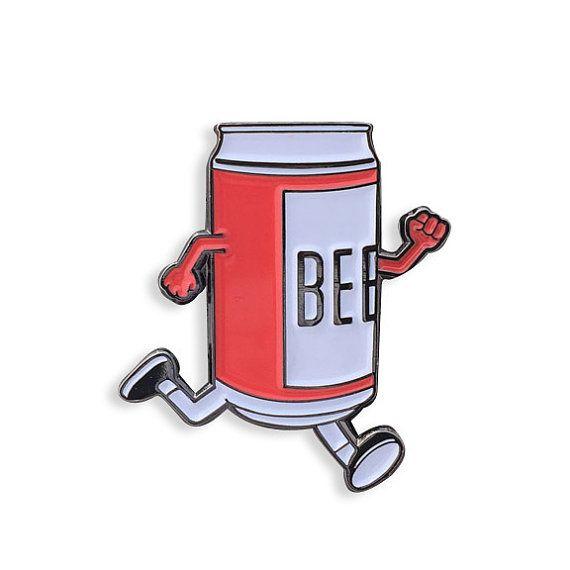 Beer Run Enamel Pin by YesterdaysCo on Etsy