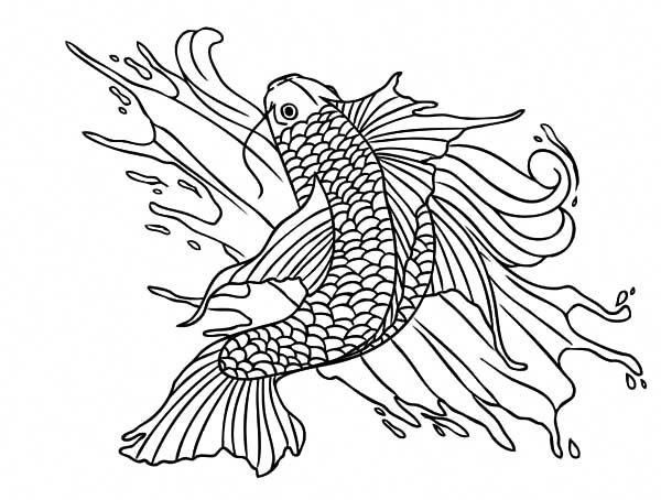 Coy Fish Coy Fish Painting Coloring Pages Koifishinformation Fish Painting Coy Fish Koi Fish