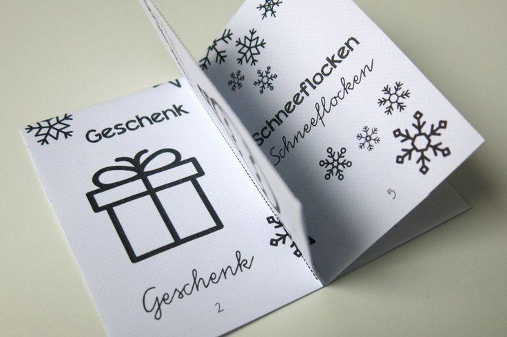 diy idee f r die adventszeit das minibuch so sieht. Black Bedroom Furniture Sets. Home Design Ideas