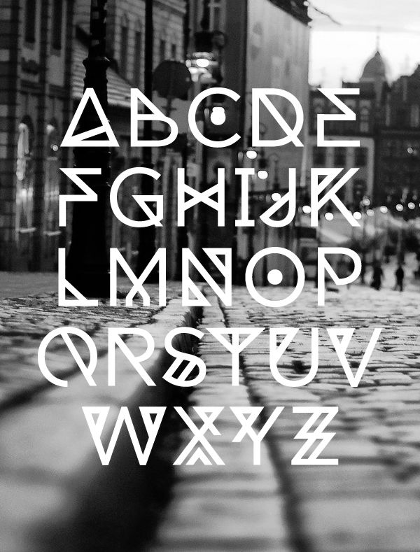 19 Free Geometric, Angular, Rune-esque Style Fonts
