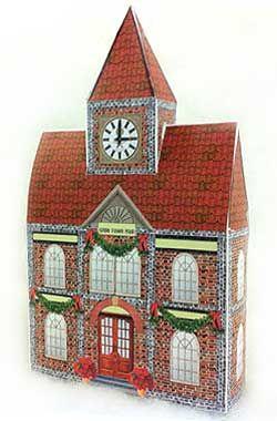 Olde Town Hall model village en papier à imprimer
