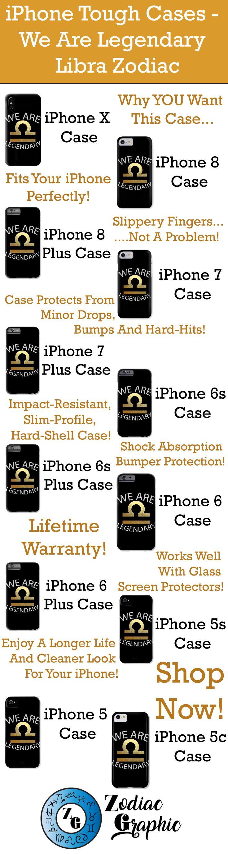 iPhoneX || iPhone 8 || iPhone 8 Plus || iPhone 7 || iPhone 7 Plus || iPhone 6s || iPhone 6s Plus || iPhone 6 || iPhone 6 Plus || iPhone 5s || iPhone 5 || iPhone 5c || We Are Legendary Libra - Phone Case || Zodiac || Zodiac Sign || Zodiac Gift || Libra || Libra Zodiac Gift || Gift For Libra || September Birthday Gift || October Birthday Gift