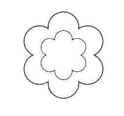Free Wool Felt Applique Patterns | You can use this flower applique pattern with felt or fabric to ...