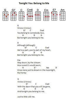 my girl ukulele chords pdf