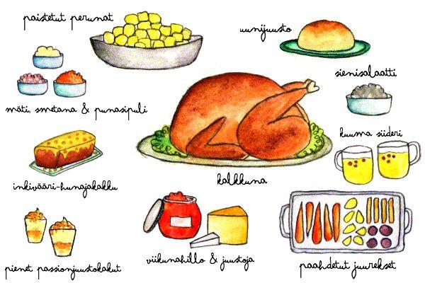 Christmas menu #illustration #menu
