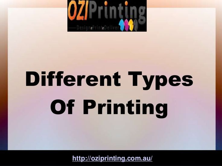 Different Types Of Printing  #printing