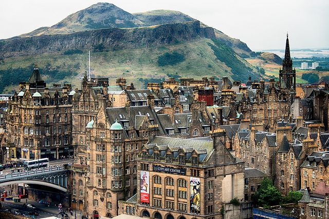 Edinburgh Old Town   One of my favorite parts in Edinburgh. Small and dark alleys, old - yet beautiful houses and lot of pubs.