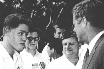bill clinton and jfk photo   20 Creepy And/Or Cute Revelations About JFK's Affair With An Intern