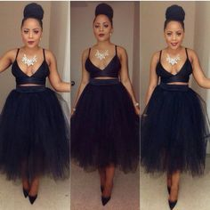***Try Hair Trigger Growth Elixir*** ========================= {Grow Lust Worthy Hair FASTER Naturally with Hair Trigger} ========================= Go To: www.HairTriggerr.com ========================= A High Bun, Crop Top, and Black Tulle Skirt!!! FLAWLESSSSS!!!!