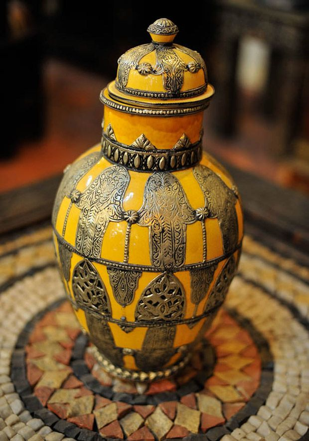The charm of the decoration of Morocco.