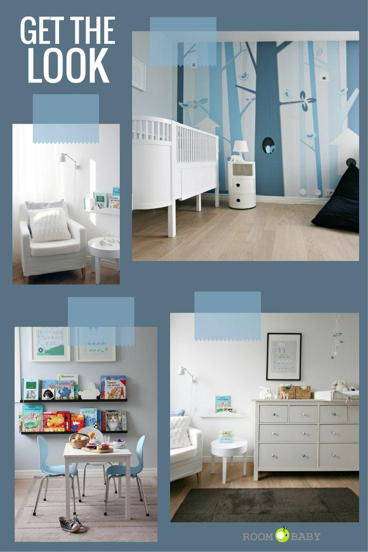 roomobaby* blog: 'blue forest' modern nursery