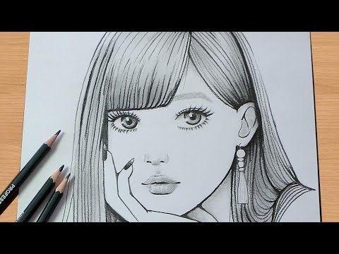 كيفية رسم وجه فتاة بقلم الرصاص للمبتدئين Youtube Book Art Sketches Face Drawing