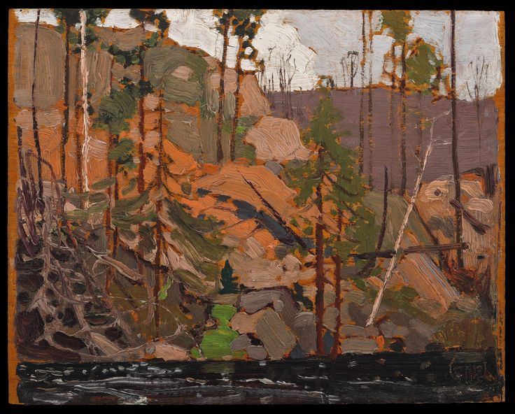 Tom Thomson Catalogue Raisonné | Little Cauchon Lake, Spring 1916 (1916.58) | Catalogue entry