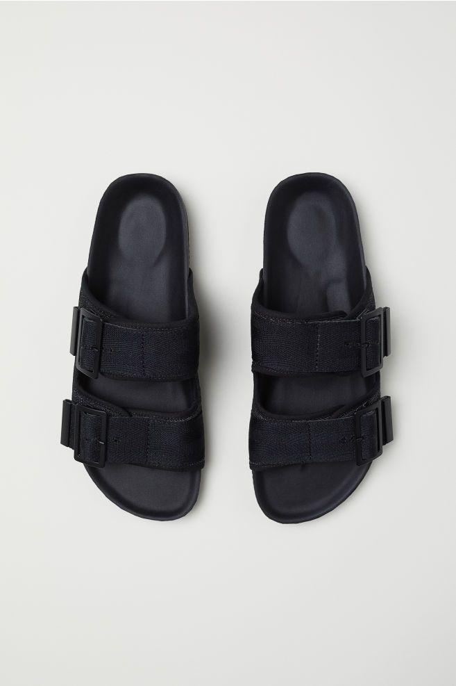 5d019266a159 Sandals - Black - Men
