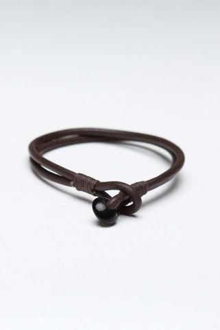 Antique Leather Cord Bracelet Brown- just a reminder to try putting the clasp thing in the front of the necklace. Love how that looks