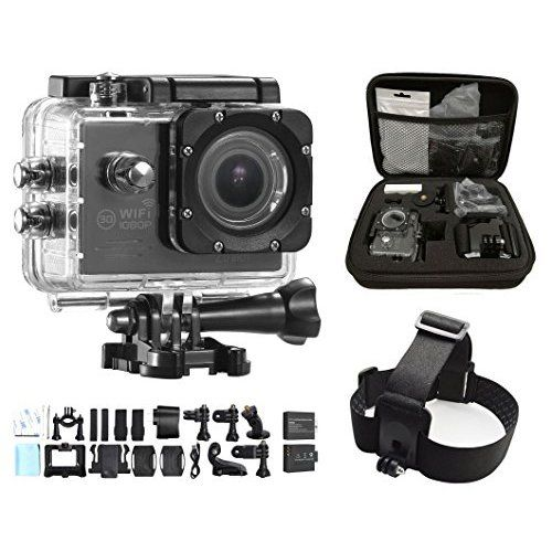 APEMAN Action Camera, Sport Camera 1080p HD Waterproof Action Cam, Portable Package with 1.5 Inch 170° Wide-Angle Lens