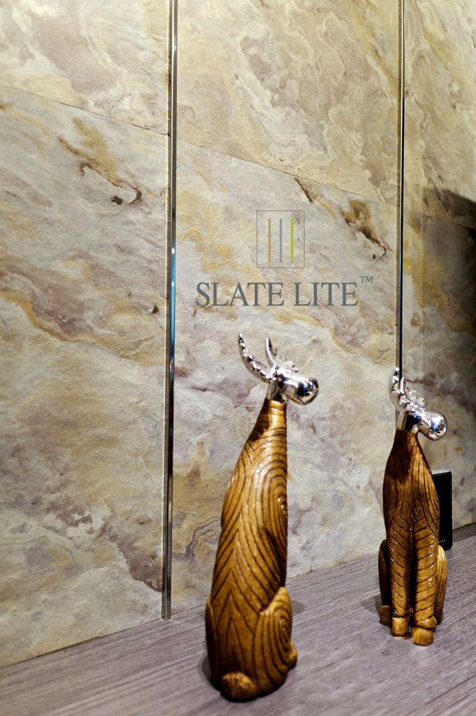Interior design Slate Lite Blanco palakő burkolattal