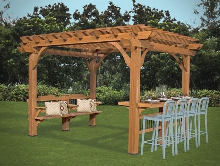 best 25 pergola bois ideas on pinterest carport en bois. Black Bedroom Furniture Sets. Home Design Ideas