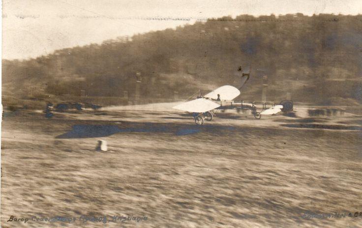 Kristiania. Baron Cederstrøm`s Flyvning. Stmp.1910.