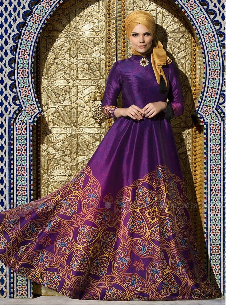 Silkway Evening - Purple - Muslim Evening Dresses - Modanisa