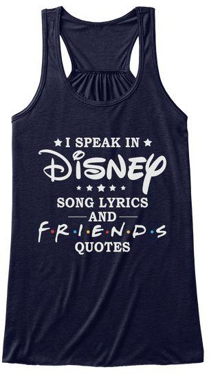 Small navy - Disneys Song Lyrics And F.R.I.E.N.D.S Midnight Women's Tank Top Front