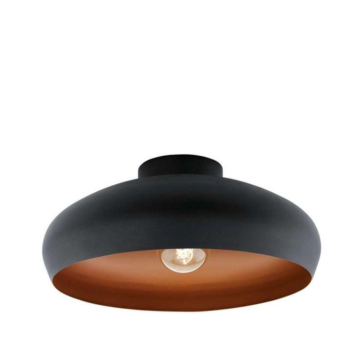 Plafondlamp Mogano - zwart/koper | Leen Bakker