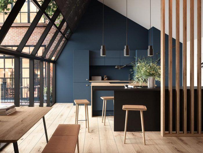 Des Idees Deco Pour Une Cuisine Bleu Nuit Cuisines Bleu Fonce