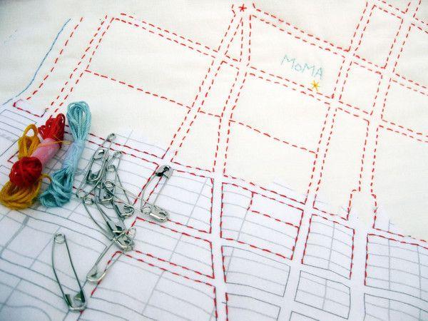 DIY - New York City Map Quilt Kit